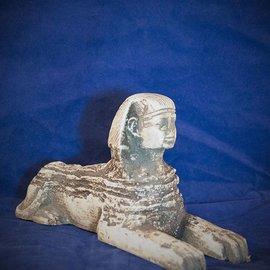 Sphinx Statue, White Finish