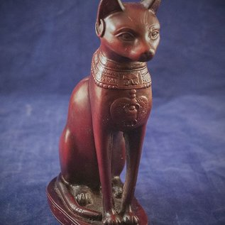 OMEN Medium Cat Bast Statue, Red Finish