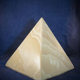 Extra Large Alabaster Pyramid for Light