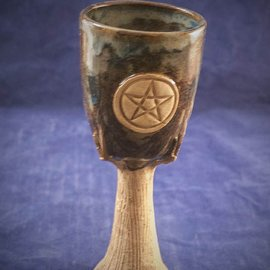OMEN Spirit of Wood Goblet in Blue with Pentacle