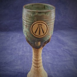 Spirit of Wood Goblet in Green with Awen Symbol