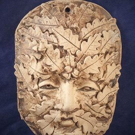 Green Man Wall Plaque - Large