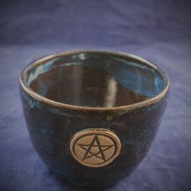 Large Spirtual Bowl in Blue with Pentacle