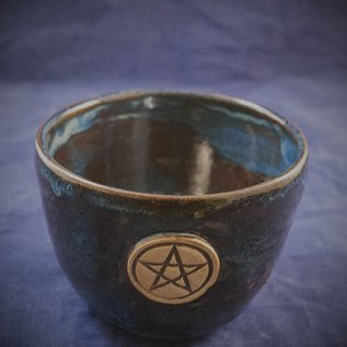 OMEN Large Spirtual Bowl in Blue with Pentacle