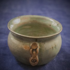 OMEN Little Cauldron Pot in Green with Goddess