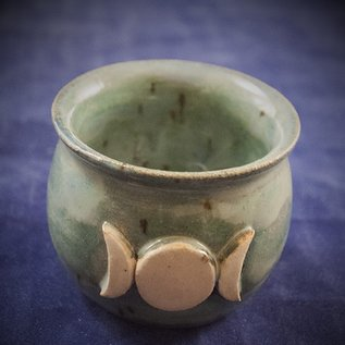 OMEN Little Cauldron Pot in Green with Triple Moon