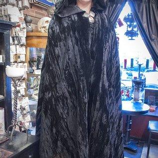 Black Velvet Cloak with Satin Lining