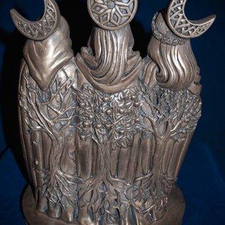 OMEN Triple Goddess Statue by Mickie Mueller in Bronze
