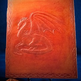 Small Dragon Journal in Orange