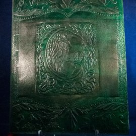 Large Raven Journal in Green