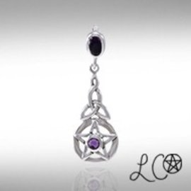 Laurie Cabot's Celtic Protection Pentacle with Amethyst Pendant