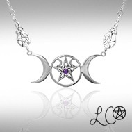 Omen laurie cabots triple moon goddess necklace with amethyst omen omen laurie cabots triple moon goddess necklace with amethyst mozeypictures Image collections