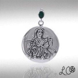 OMEN Laurie Cabot's Epona with Green Agate Pendant