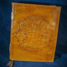 OMEN Small Detailed Celtic Knot Tree Journal in Orange