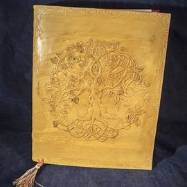 OMEN Small Detailed Celtic Knot Tree Journal in Yellow