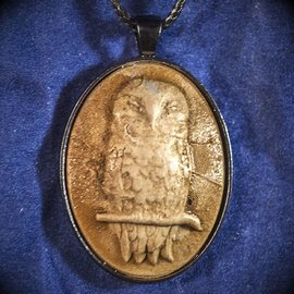 Green Earth Mystic Owl Necklace