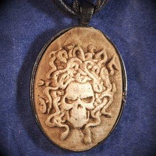 Green Earth Medusa Skull Necklace