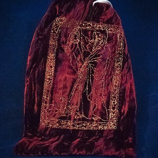 OMEN Gold Hermit Wine Red Tarot Bag