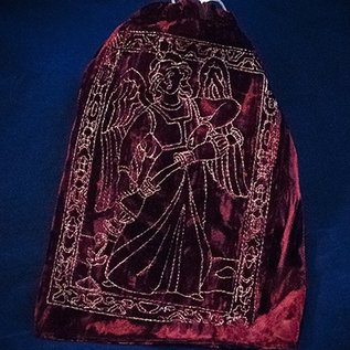 OMEN Silver Temperance Wine Red Tarot Bag