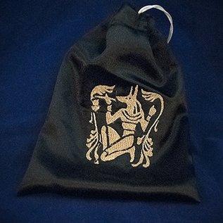 OMEN Gold Anubis Black Satin Tarot Bag