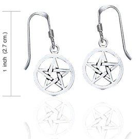 OMEN Pentacle Dangle Earrings