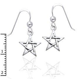 OMEN Small Pentacle Earrings