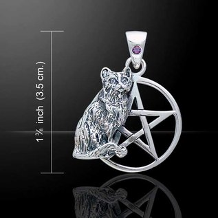 OMEN Cat Pentagram with Amethyst