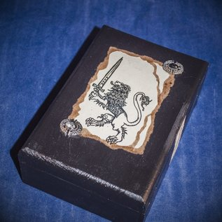 OMEN Bejeweled Lion Tarot Box by Official Salem Witch Laurie Cabot
