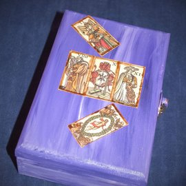 Laurie Cabot Crafts Purple Marseilles Tarot Box by Official Salem Witch Laurie Cabot