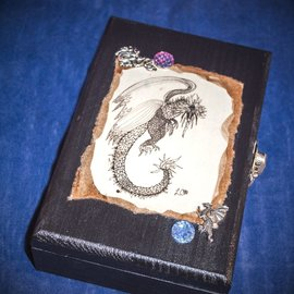 Laurie Cabot Crafts Bejeweled Dragon Tarot Box by Official Salem Witch Laurie Cabot