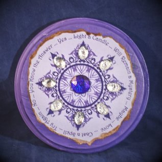 Laurie Cabot Crafts Purple Round Jeweled Pendulum Board by Official Salem Witch Laurie Cabot