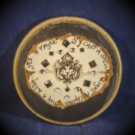 Laurie Cabot Crafts Black Jeweled Lion Pendulum Board by Official Salem Witch Laurie Cabot