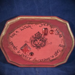 Laurie Cabot Crafts Red Lion Pendulum Board with Red Jewels by Official Salem Witch Laurie Cabot