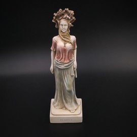 OMEN Ancient Greek Snakeheaded Monster Medusa statue made in Greece - 13 inches tall