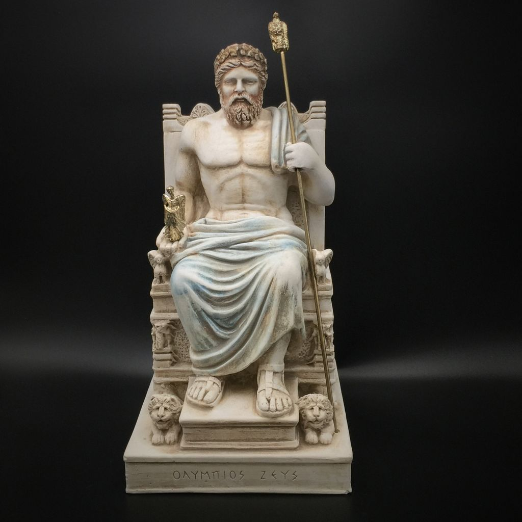 Omen Ancient Greek God Zeus Statue Made In Greece 102 Inches