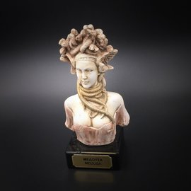 Ancient Greek Snakeheaded Monster Medusa bust made in Greece - 5.5 inches