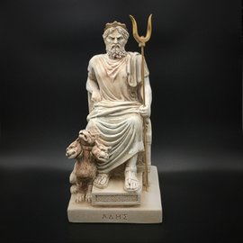 OMEN Ancient Greek God Hades statue made in Greece - 10 inches