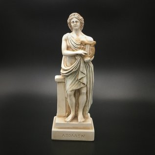 Ancient Greek God Apollo statue made in Greece - 8 inches