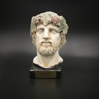 Ancient Greek God Dionysus bust made in Greece - 6.3 inches