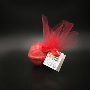 OMEN Pure Magic Lust Potion Crystal Ball Bath Bomb with a Garnet Crystal Inside!
