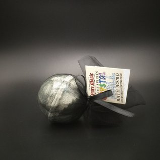 Pure Magic Grave Spirits Crystal Ball Bath Bomb with an Obsidian Crystal Inside!