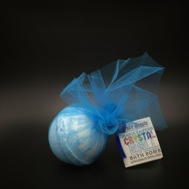 Pure Magic Marie Laveau Crystal Ball Bath Bomb with a Sodalite Crystal Inside!