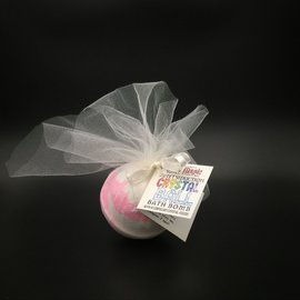 OMEN Pure Magic Sweet Seduction Crystal Ball Bath Bomb with a Carnelian Crystal Inside!