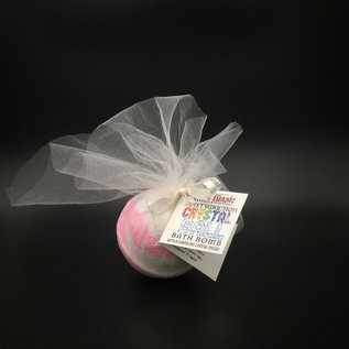 Pure Magic Sweet Seduction Crystal Ball Bath Bomb with a Carnelian Crystal Inside!