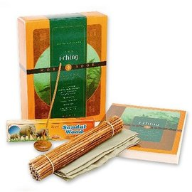 OMEN I Ching Workbook Gift Set [With Workbook and Incense, Holder, 50 Yarrow Stalks, Cloth]