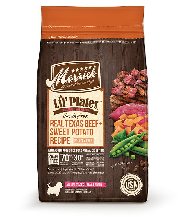 Merrick Lil' Plates Grain Free Real Texas Beef + Sweet Potato Recipe for Dogs