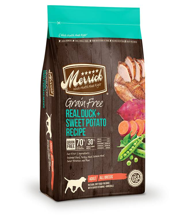 Merrick Grain Free Real Duck + Sweet Potato Recipe for Dogs