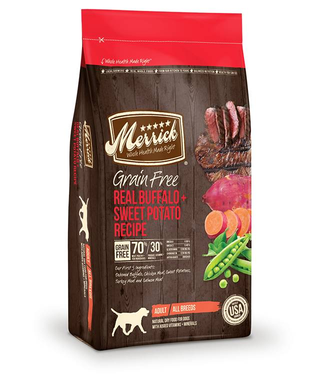 Merrick Grain Free Real Buffalo + Sweet Potato Recipe for Dogs