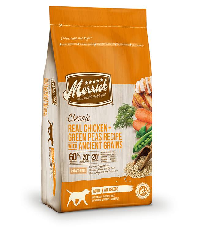 Merrick Classic Real Chicken + Green Peas Recipe with Ancient Grains for Dogs