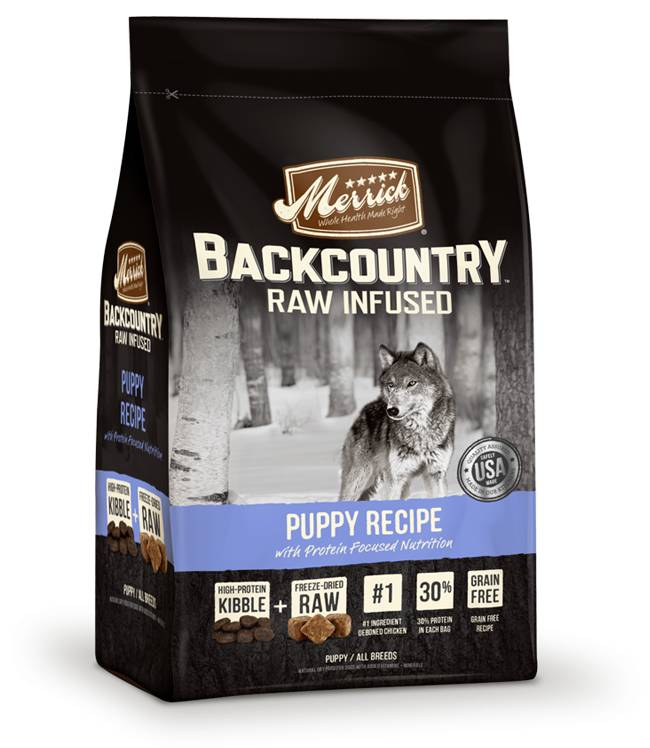 Merrick Backcountry - Raw Infused - Puppy Recipe for Dogs